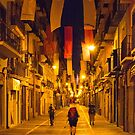 Dawn Walk Through Pamplona by Mark Higgins