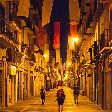 Dawn Walk Through Pamplona by markhiggins