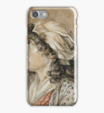ATTRIBUTED TO FRANÇOIS ANDRÉ VINCENT; PORTRAIT OF A YOUNG WOMAN, BUST LENGTH, IN PROFILE iPhone Case/Skin