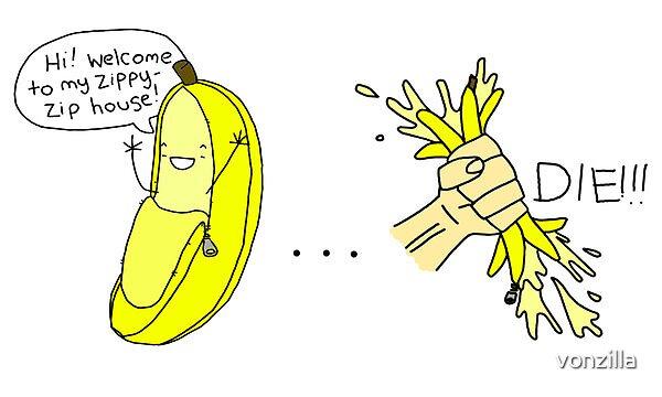 zippy banana by vonzilla