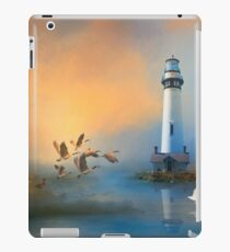 Lighthouse Seagulls Geese Waterscape iPad Case/Skin