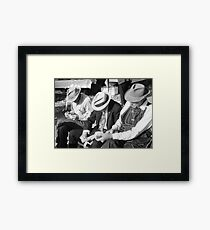 Three Old Men Framed Print