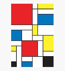 Geometric Grids and Boxes in Bold Colors (Mondrian Style) Photographic Print