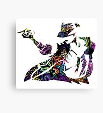 Michael Jackson -  Psychedelic Canvas Print