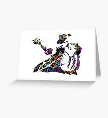 Michael Jackson -  Psychedelic Greeting Card