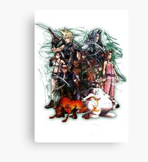 Final Fantasy VII - Collage Canvas Print