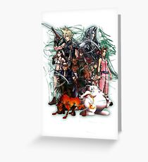 Final Fantasy VII - Collage Greeting Card