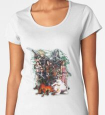 Final Fantasy VII - Collage Women's Premium T-Shirt