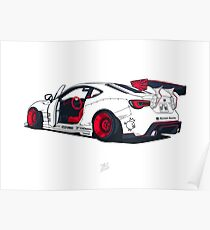GT86 Rocket Bunny - HORIZONTAL Prints and Frames Poster