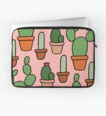 Pink Cactus Pattern Laptop Sleeve