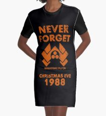 Never Forget Graphic T-Shirt Dress