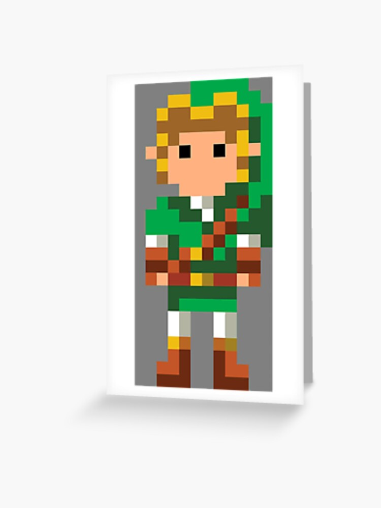 The Legend Of Zelda 16 Bit Link Greeting Card