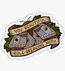 Rule-Breaking Moth - Leslie Knope Sticker