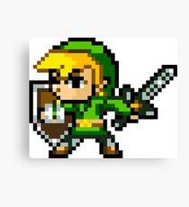 The Legend of Zelda Link 16-Bit Sprite Canvas Print
