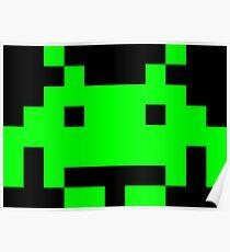 Space Invaders Alien Sprite Poster