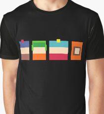 South Park Boys Pixel Art Graphic T-Shirt