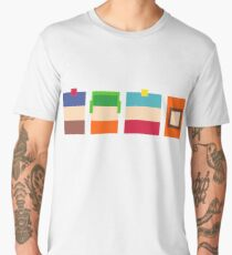 South Park 8-Bit Pixels Design Men's Premium T-Shirt