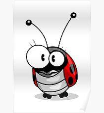 Cartoon ladybug Poster
