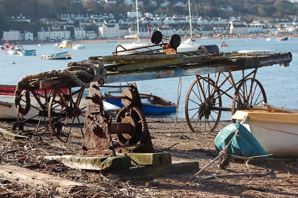 Cart on backbeach Teignmouth by sandrab