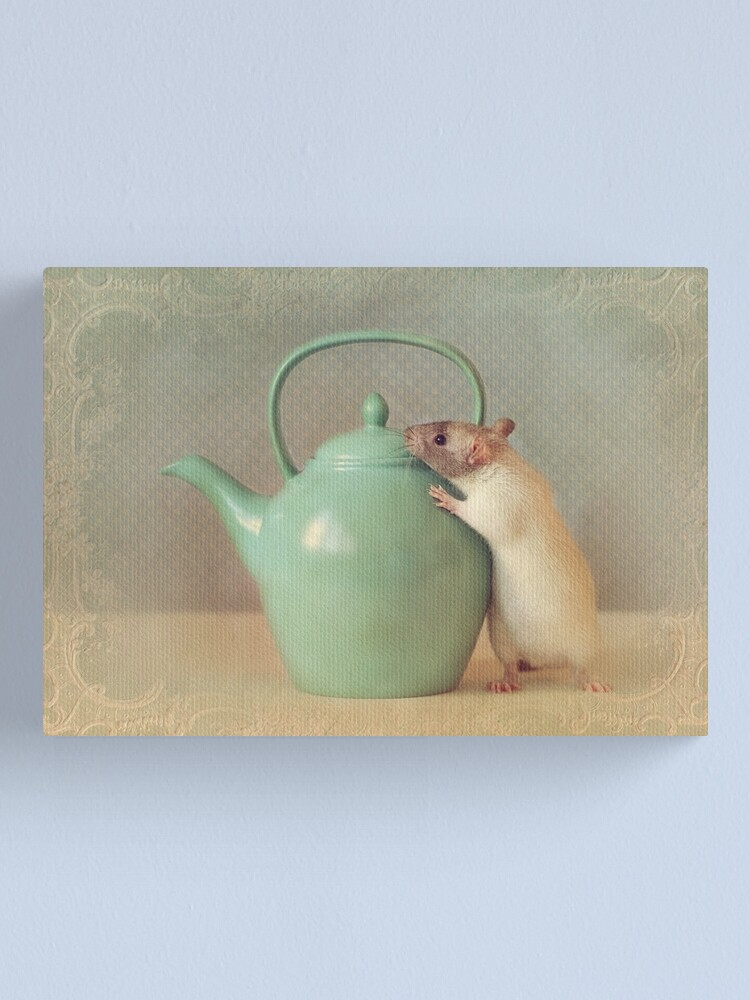 Alternate view of Snoozy with teapot Canvas Print