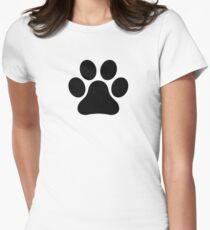 Pawprint Womens Fitted T-Shirt