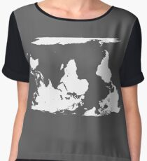 Upside down earth? Think different Women's Chiffon Top
