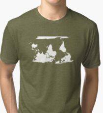 Upside down earth? Think different Tri-blend T-Shirt