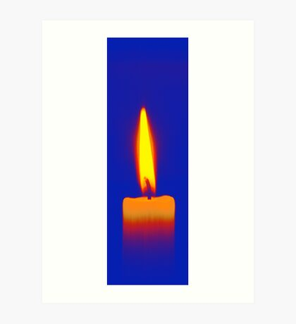 Coloured Candle Art Print