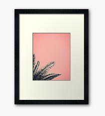 Retro Style Palm Tree Leaves Framed Print