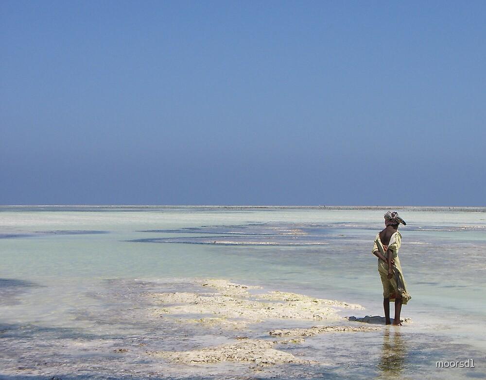 Girl on Beach, Zanzibar by moorsd1