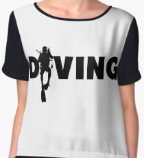 Diving Women's Chiffon Top