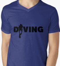 Diving Men's V-Neck T-Shirt