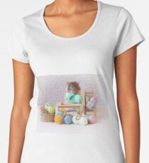 Snoozy wanted to knit ! Women's Premium T-Shirt