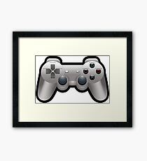 Video Game Inspired Console Playstation Dualshock Gamepad Framed Print