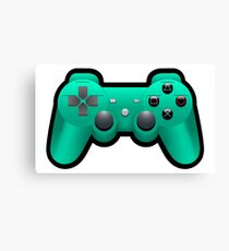 Video Game Inspired Console Playstation Dualshock Gamepad  Canvas Print