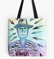Crazy heart Tote Bag