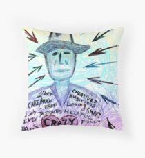 Crazy heart Throw Pillow