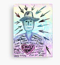 Crazy heart Canvas Print