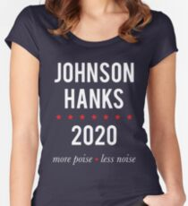 Johnson Hanks 2020 - More Poise Less Noise Women's Fitted Scoop T-Shirt