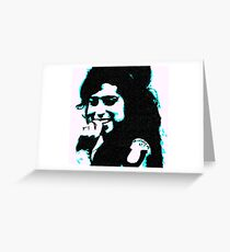 Amy Winehouse by Susanne Schwarz Greeting Card