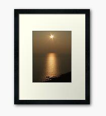 Sunset over North Devon Framed Print