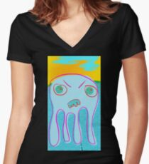 Squid No. 28 - Heat Wave Women's Fitted V-Neck T-Shirt