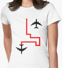 passing planes Womens Fitted T-Shirt