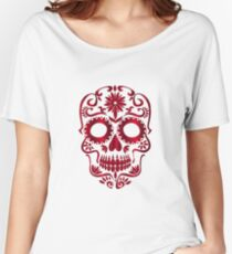 Red Sugar Skull Women's Relaxed Fit T-Shirt