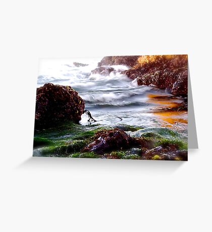 Waves on the Rocks Greeting Card