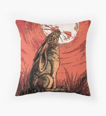 Moon Gazer Hare, Artwork Throw Pillow