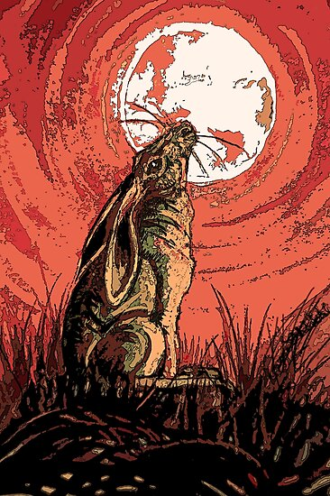 Moon Gazer Hare, Artwork by LouiseSchofield