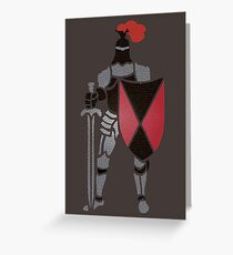 Knight T Greeting Card