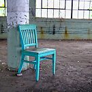 Emptiness in Green and Turquoise by Steven Godfrey