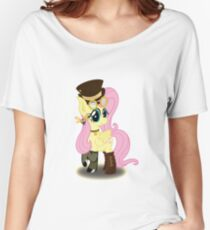 Steampunk Fluttershy (with background) Women's Relaxed Fit T-Shirt
